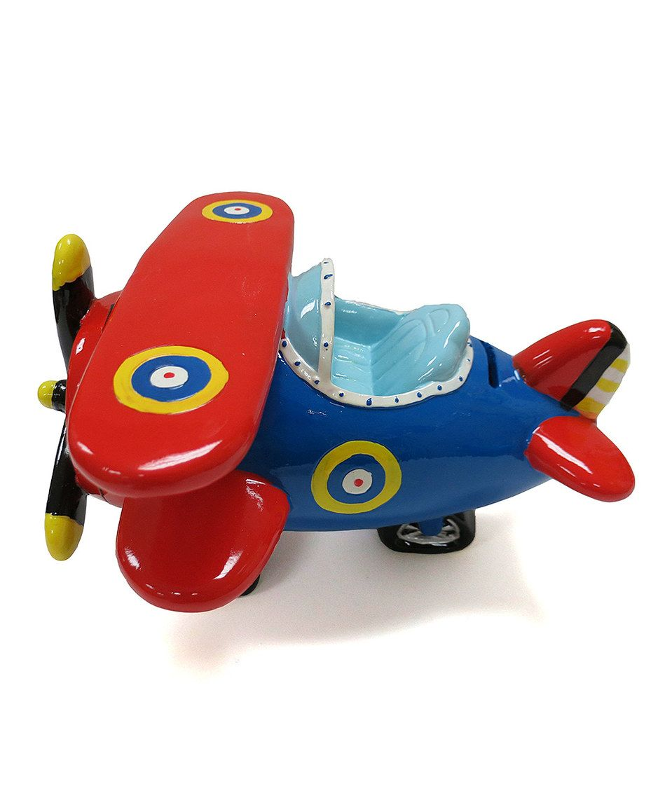 Look what I found on #zulily! Red Biplane Bank by KingMax Product #zulilyfinds