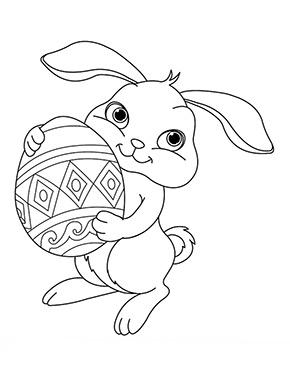 Ausmalbilder Osterhase Tragt Ein Osterei In 2020 Ausmalbilder Ostern Ausmalbilder Ostern Zum Ausmalen
