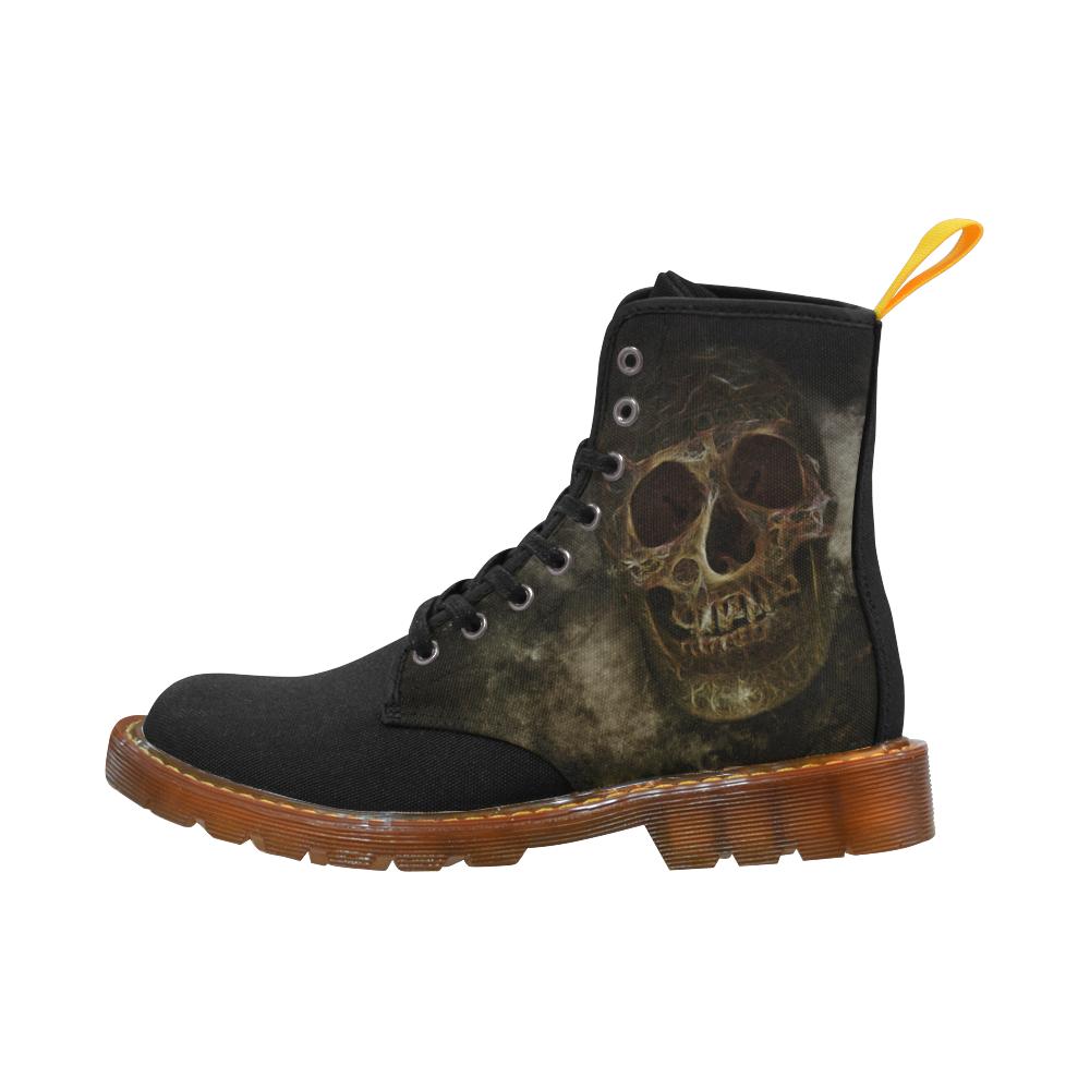 534c0c57462 Mysterious Golden Skull Martin Boots For Women Model 1203H | All ...