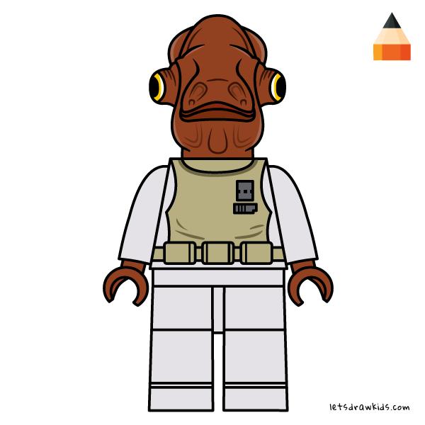 Drawing Lego Star Wars Star Wars Coloring Pages Drawing Star Wars Characters Admiral Ackbar Star Wars Cartoon Star Wars Characters Drawing Stars