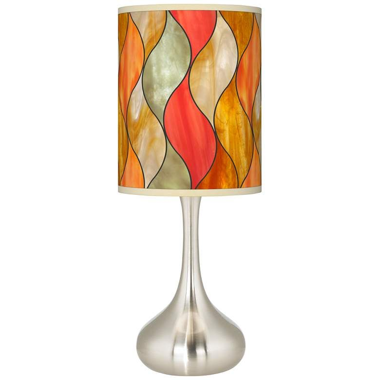 Flame Mosaic Giclee Droplet Table Lamp 73t46 Lamps Plus Modern Table Lamp Design Table Lamp Table Lamp Design