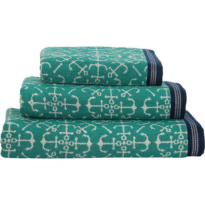 Buy Seasalt Anchor Rose Hand Towel Seaport Online At
