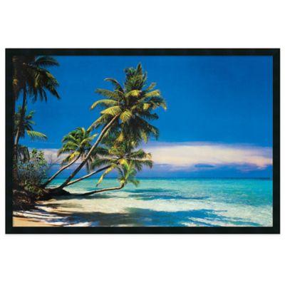 Tropical Beach Framed Art Print Beach Frame Beach Posters