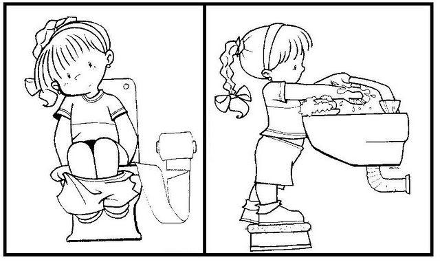 Resultado De Imagen Para Ninos Sentados En El Bano Animados Control De Esfinteres Secuencias Temporales Higiene Ninos