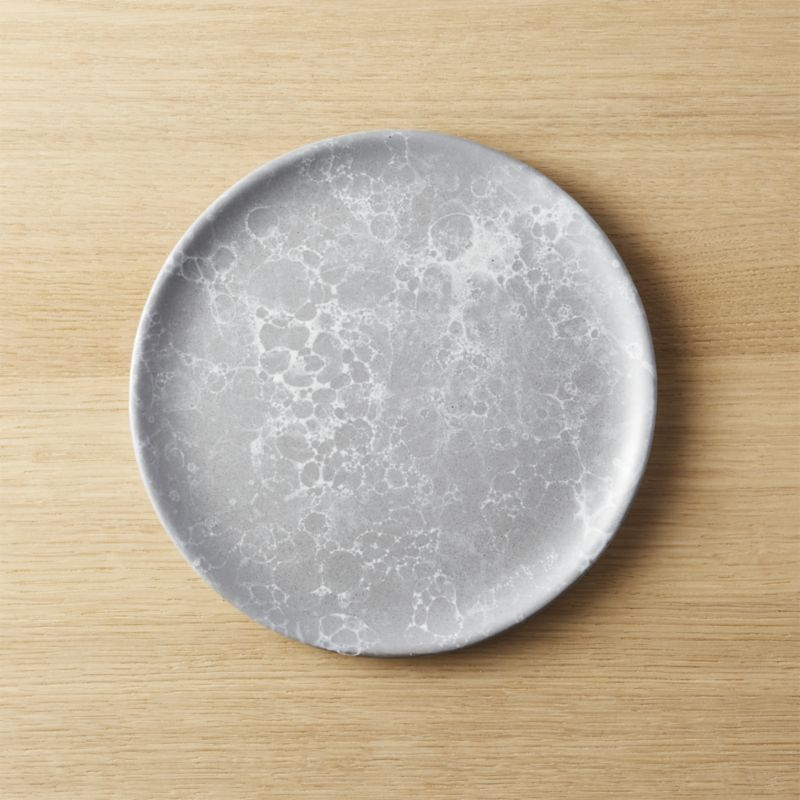Shop Froth Grey Salad Plate Stoneware Lays An Ultra Flat