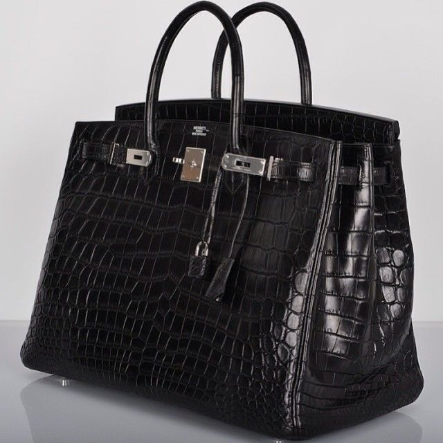 Hermes Birkin 40 matte crocodile PHW Winner of sexiest bag alive....LOL. 6489ed0d96c33