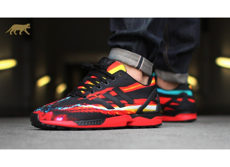 premium selection e1bd9 c1b2c adidas Captures the Speed of Light for the ZX Flux