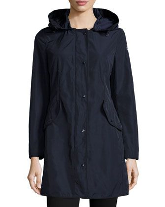 Argeline+Long-Sleeve+Zip-Front+Coat+by+Moncler+at+Bergdorf+Goodman.