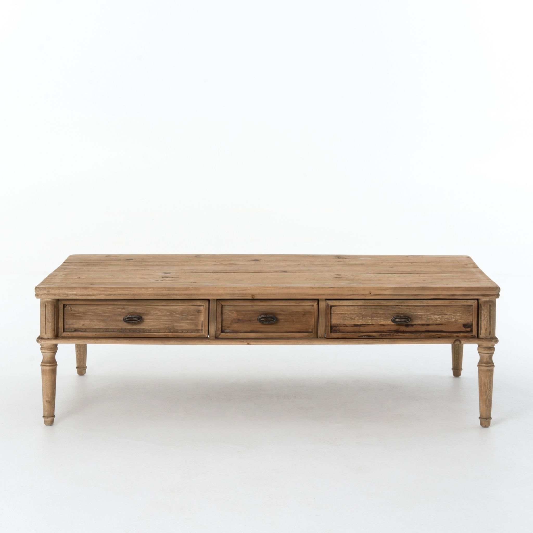 Living Room French Farmhouse Coffee Table Bleached P Cimp