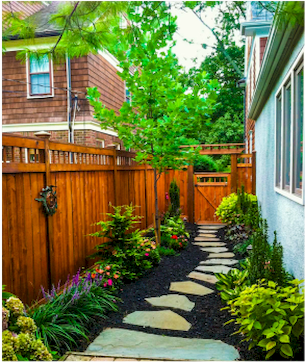 Tiny landscaping Ideas for small yards 2453471878 # ... on Side Yard Designs  id=27853