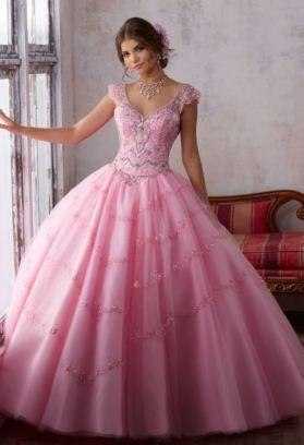 Bonita En Vestidos De Quince Color Rosa 15 Años Vestidos