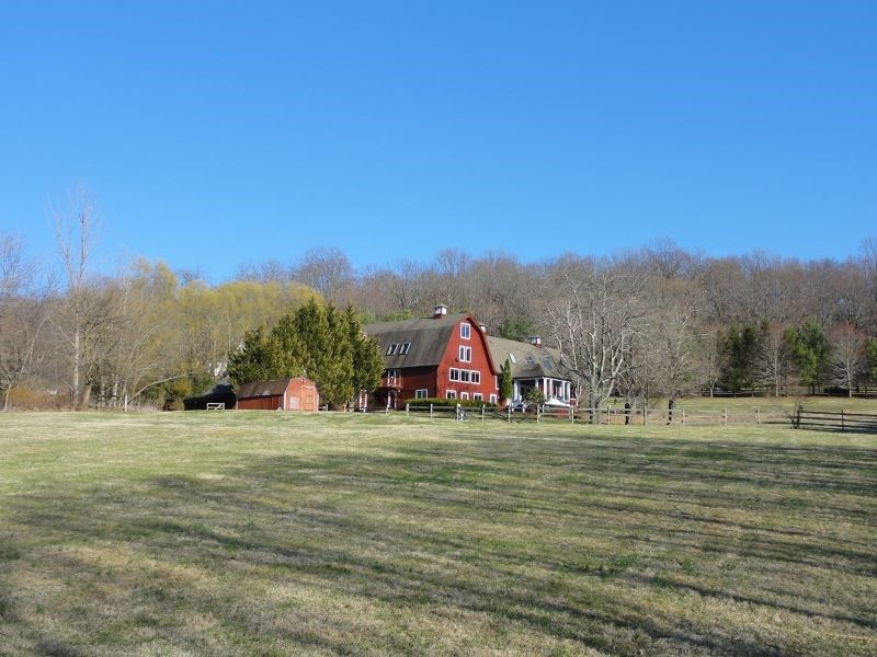 For Sale An Old Red Barn Converted Into A House In Far Hills
