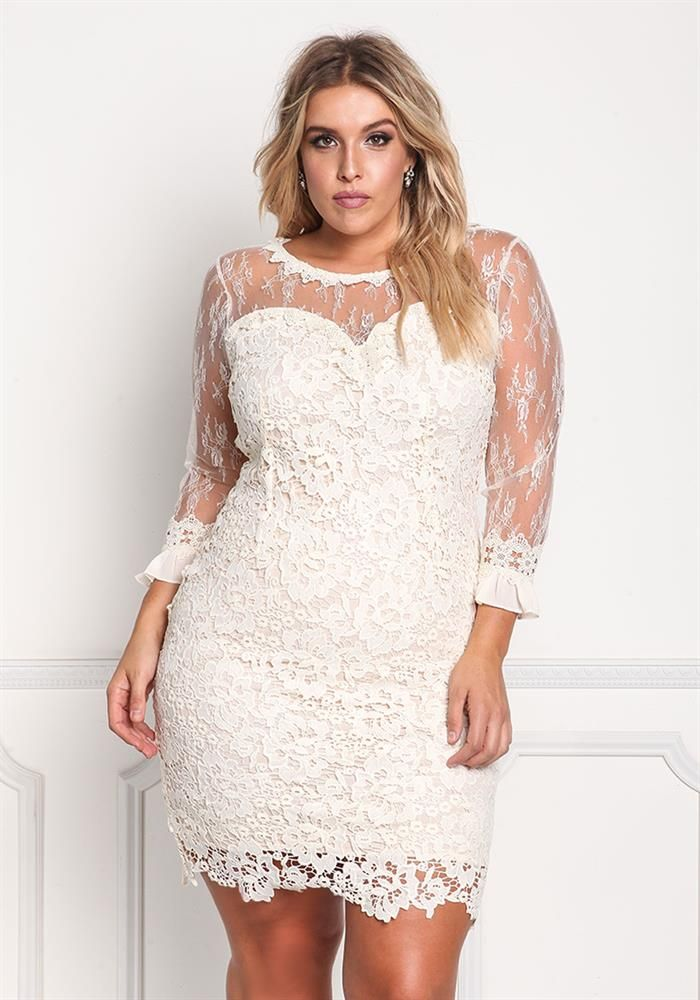 Plus Size Clothing | Plus Size Floral Embroidered Tulle ...