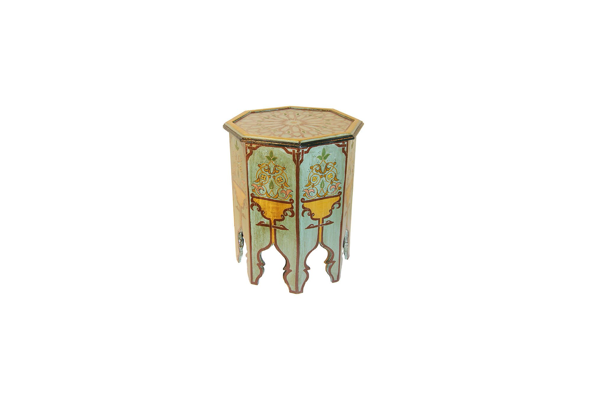 Moroccan Painted Occasional Table On OKL Today
