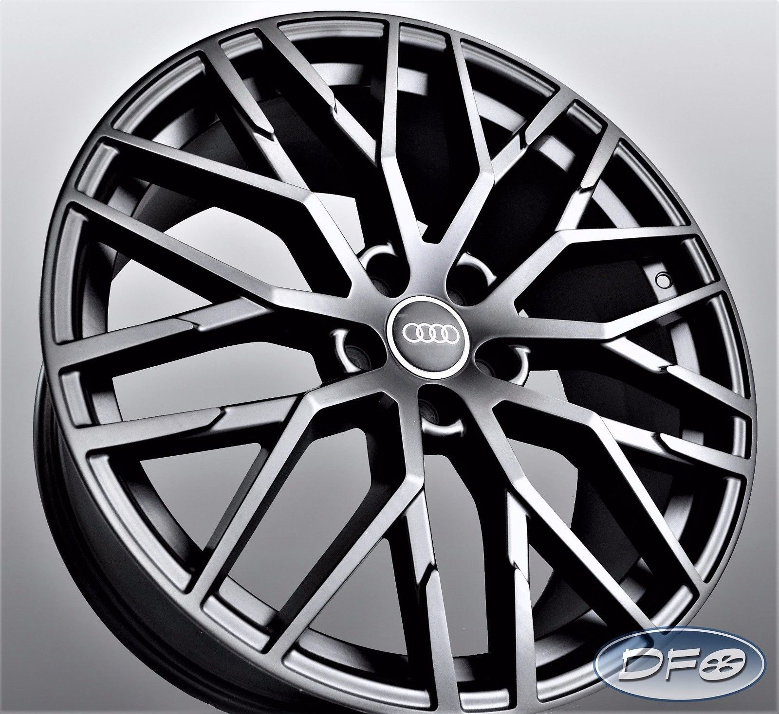 20 2017 R8 Style Black Wheel Rims Fit Audi A4 A6 A8 S4 S6 S8 Rs4 Rs6 1349 Mb Ebay Wheel Rims Black Wheels Audi
