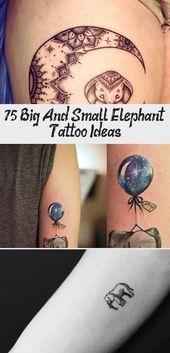 Photo of 75 grandes et petites idées de tatouage d'éléphant – Artisanat plus brillant #sunflowertattoosShoul …