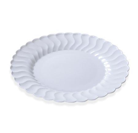 Posh Party Supplies - 9  White Flaired Round Dinner Plates $8.19 (  sc 1 st  Pinterest & Posh Party Supplies - 9