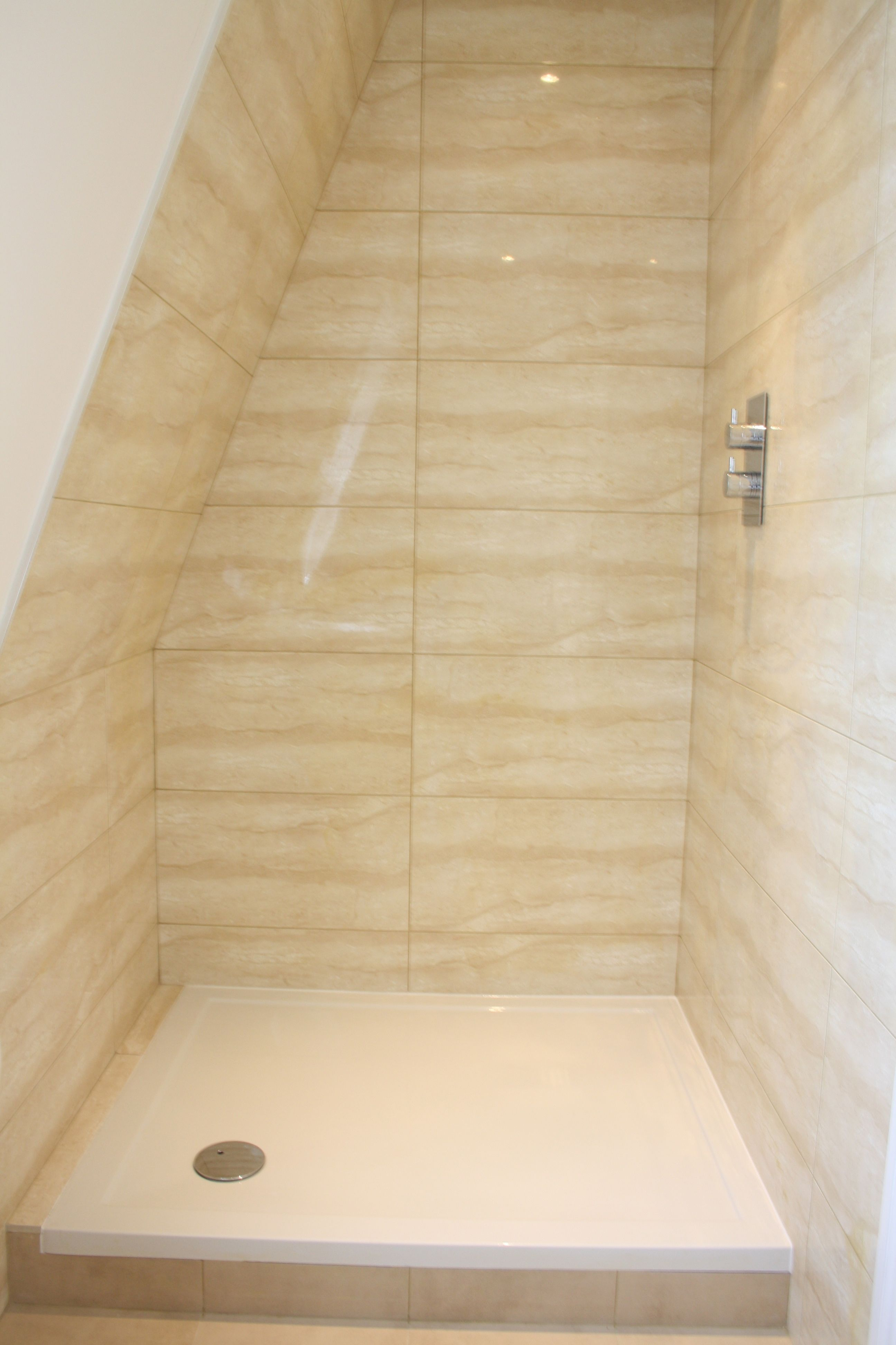 Small shower room in loft conversion, Barnes South West London ...