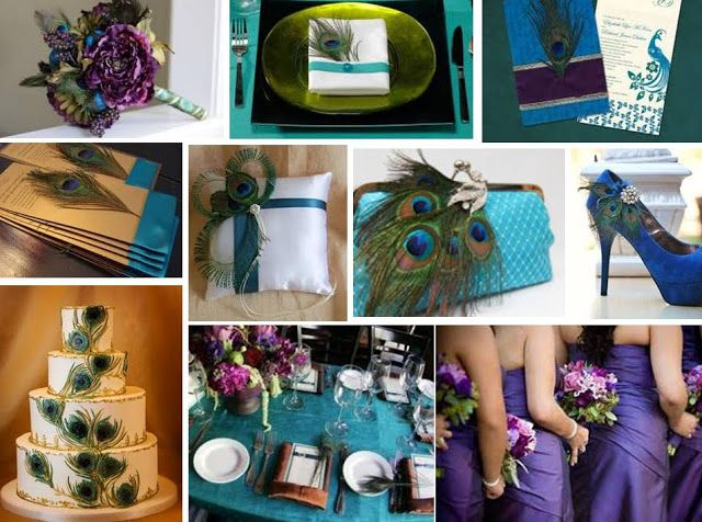 Events By Love: Peacock Theme - Teal, Purple & Gold!
