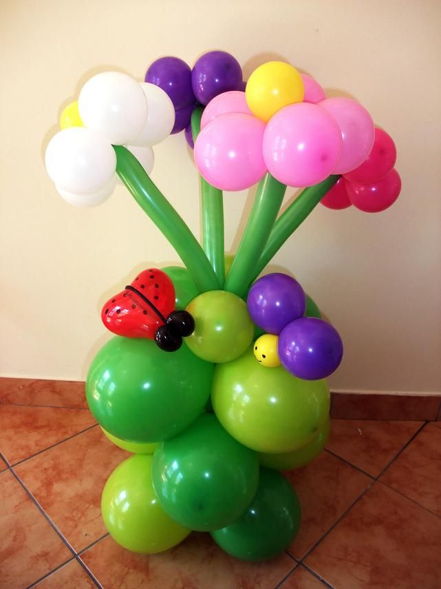 Cvjetni aranžman od balona Balloon flower decoration & Cvjetni aranžman od balona Balloon flower decoration | Ballon Art ...