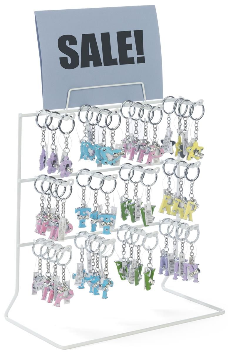 Counter Rack w/ Sign Holder, 3 Tiers, (12) 3\