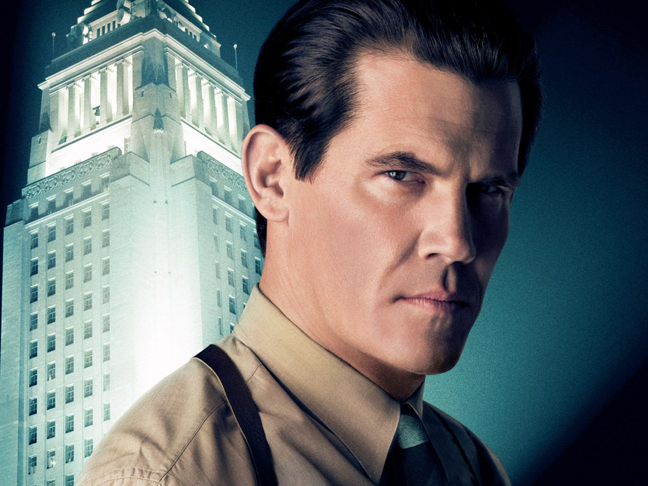 Josh Brolin como el sargento John O'Mara intentará detener a Mickey Cohen, un peligroso mafioso interpretado por Sean Penn, quien tiene a la ciudad de Los Ángeles bajo su control.