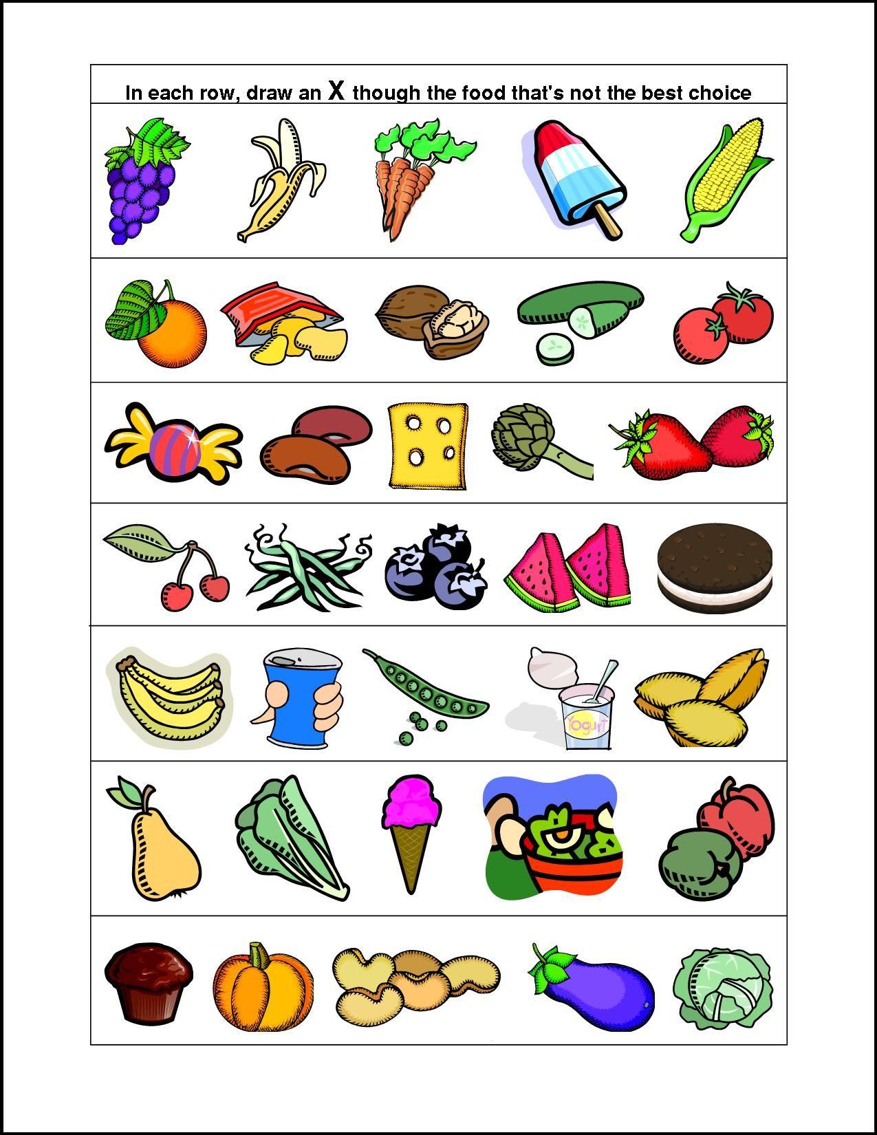healthy and unhealthy food worksheet pdf
