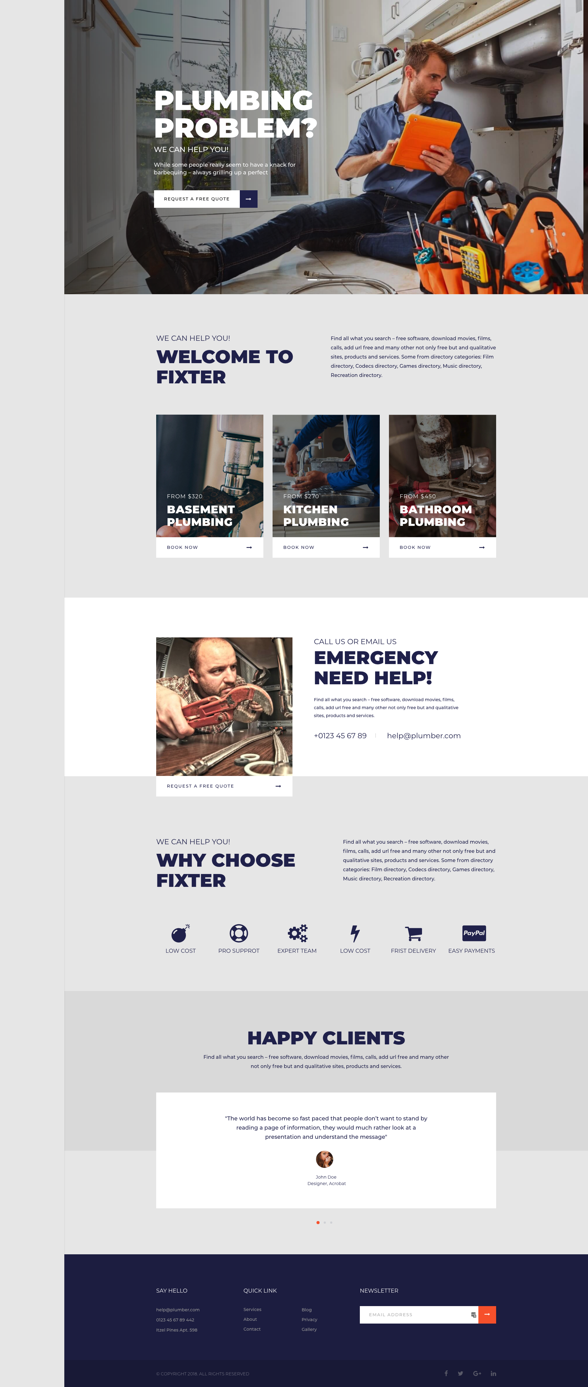 Fixter - Joomla Template for Home Maintenance and Handyman