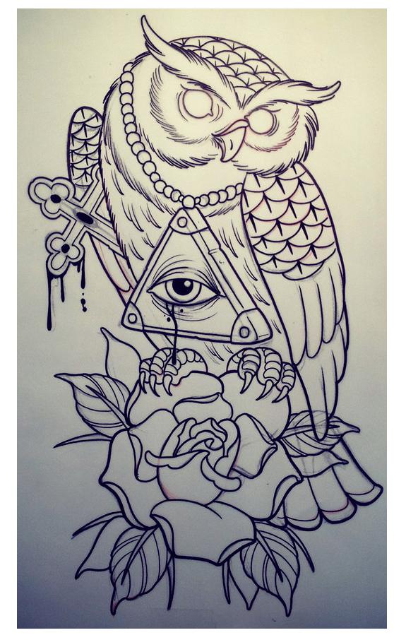 Oldcenturytattoo Com Desenhos De Tatuagem De Coruja Desenhos