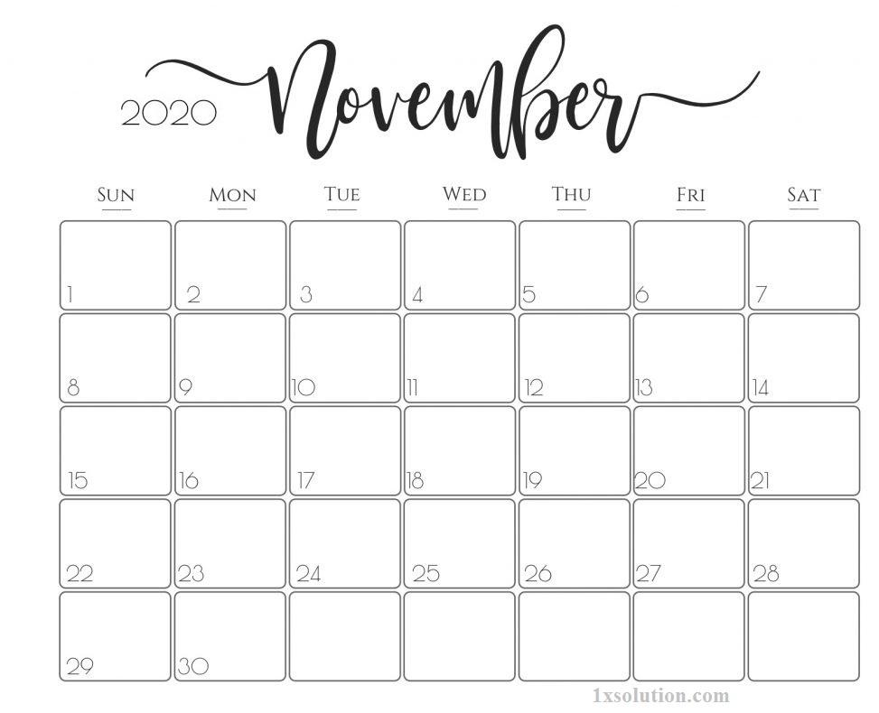 Cute Printable 2020 Calendar For Year Schedule Calendar Printables Monthly Calendar Printable Free Printable Calendar