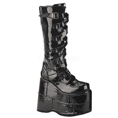 Demonia STACK 308 Blk Pat. www.Stripper-Shoes.com >> Demonia >> STACK.  Ships from United Kingdom and USA. Free delivery both locations. Makes a  cool gift.