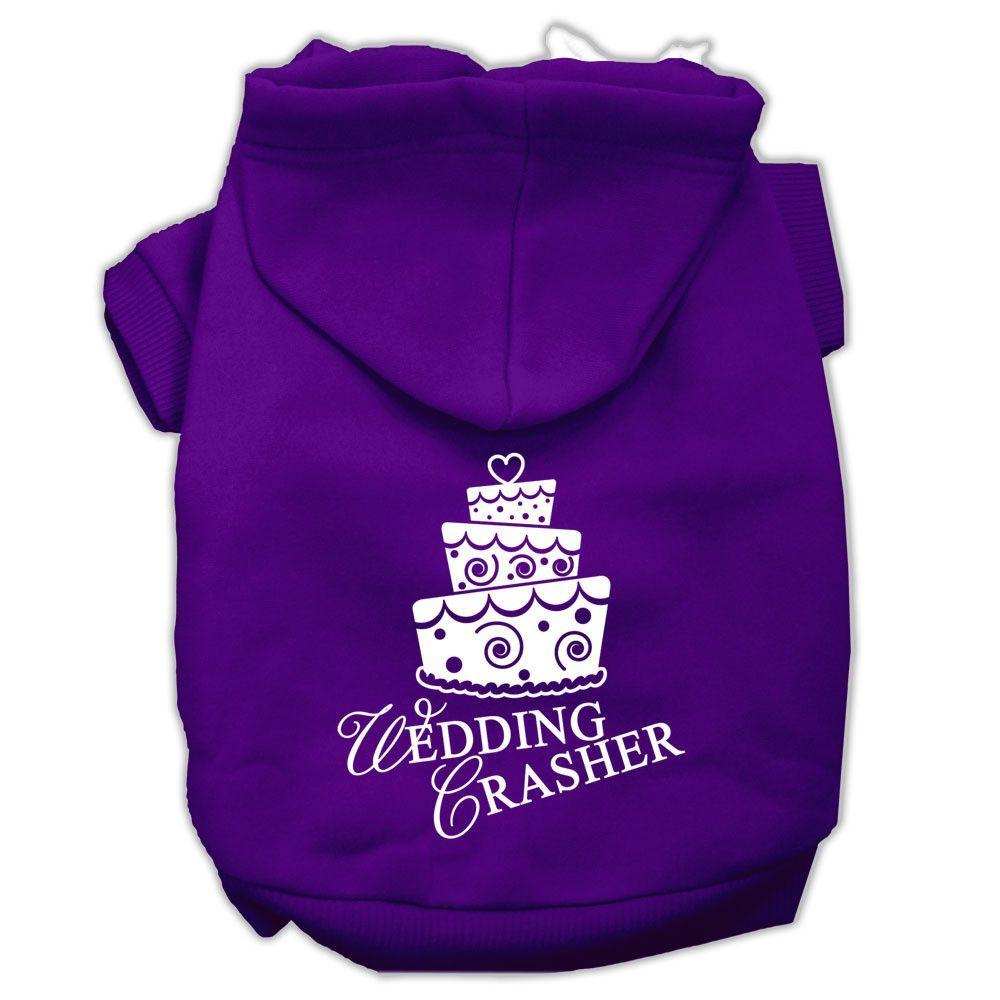 Wedding Crasher Screen Print Pet Hoodies Purple Size XXL (18)