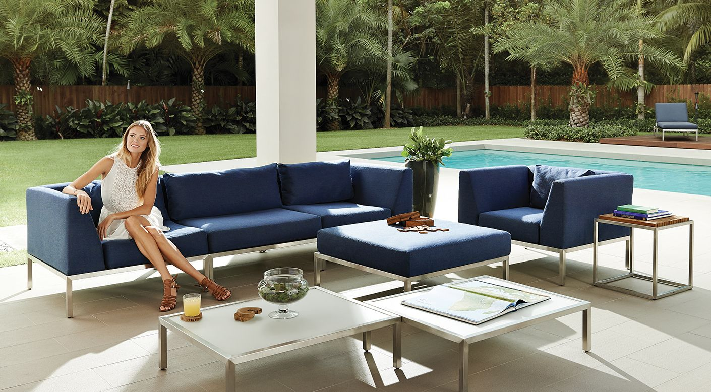 Gloster Wedge Collection Modern Luxury Outdoor Furniture Gloster Gloster Outdoor Furniture Modern Outdoor Furniture Luxury Outdoor Furniture