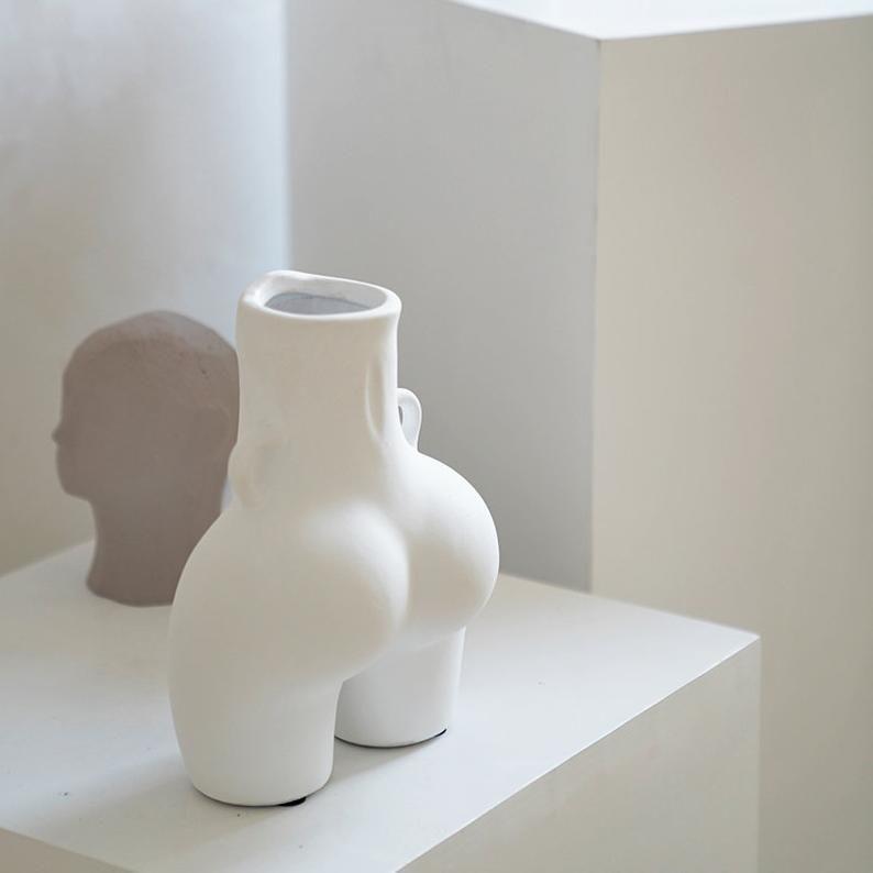 Lady Body Art Vase Nordic Vasebutt Modern Home Decorblack Etsy In 2020 Handmade Ceramics Vase Flower Vase Gift Vase