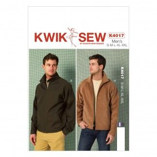 1f2a6e024203e Kwik Sew Men s Sewing Pattern 4017 Unlined Jackets