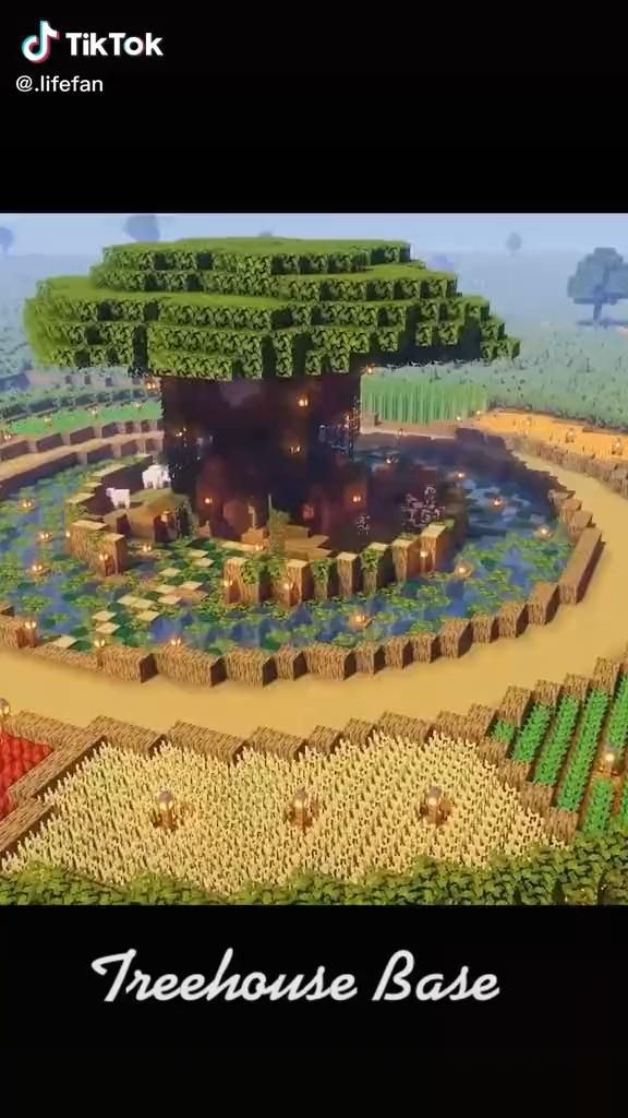 Cool Minecraft treehouse base