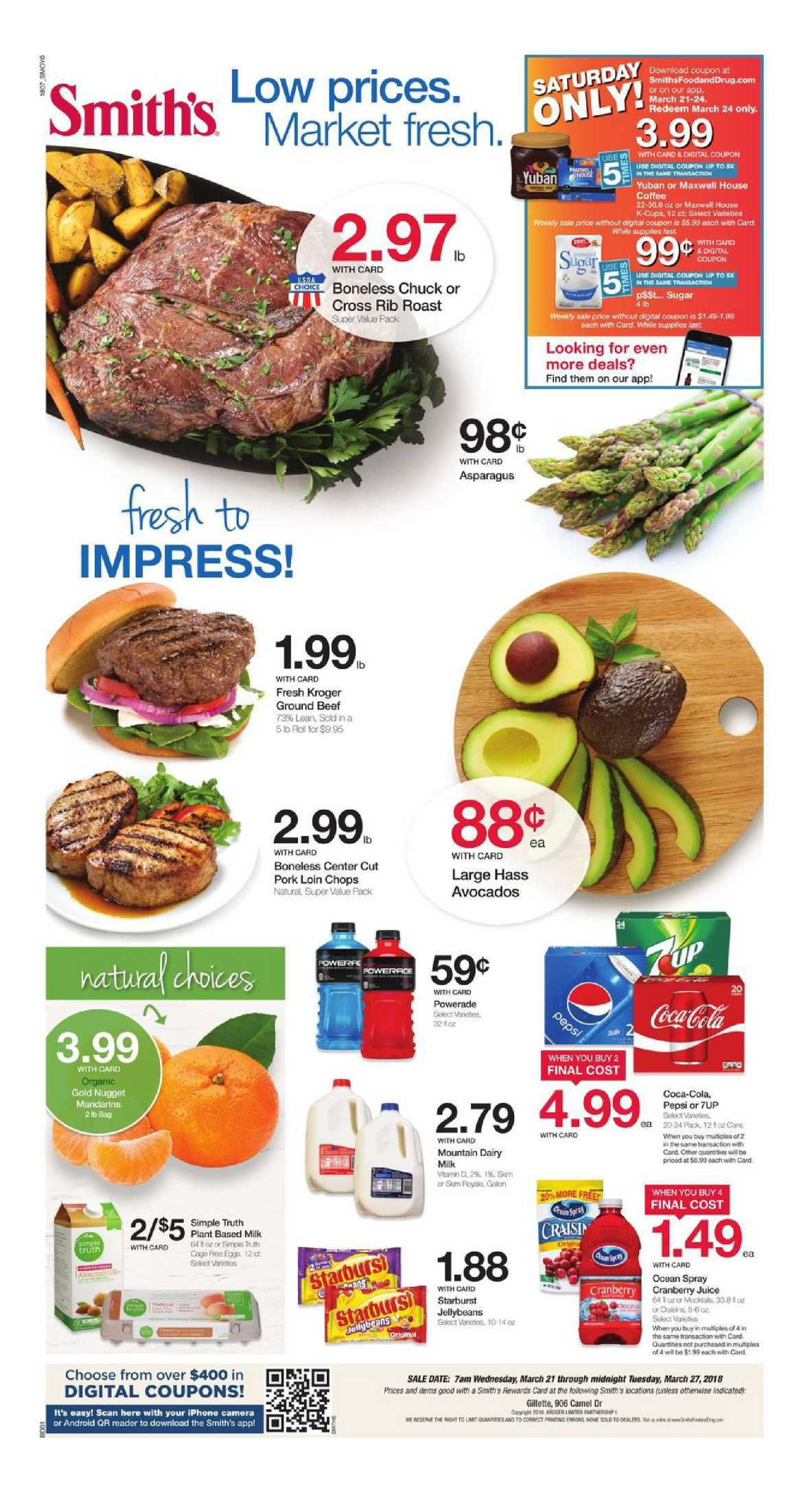 Browsing Latest Smiths Weekly Ad Flyer This Week Period March 21 27 2018 Customer Will Find Digital Coupons Specials Recipe Bakery