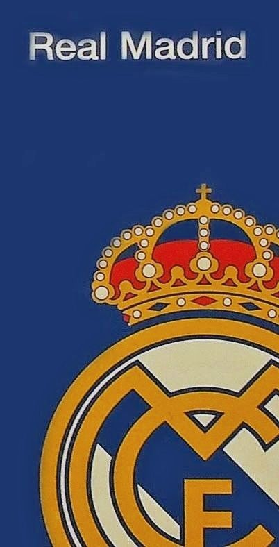 Real Madrid CF La Liga Logo Beach Towel 30x60