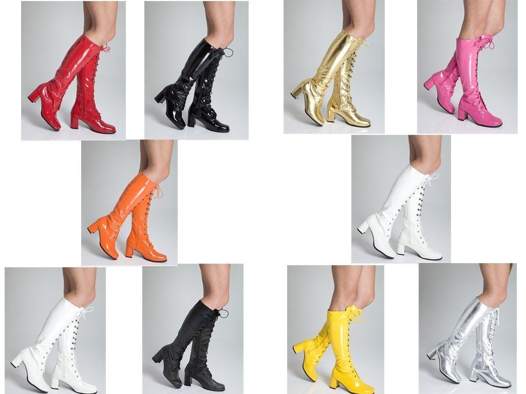 separation shoes 8ce2b 53fd9 GoGo stivali Stivali Alti Al Ginocchio Cool Anni '60 Anni 70 ...