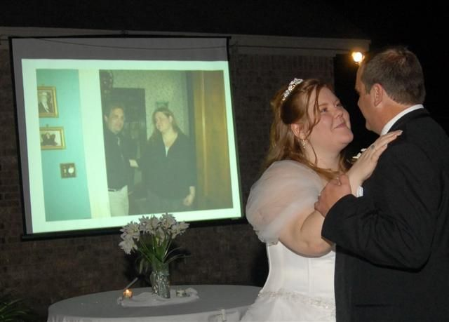 Provides screen and projector for slideshows...CAV Karaoke and DJ