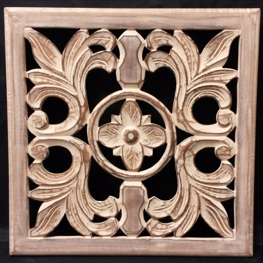 Carved wood wall plaque wall art panels u quest end decor ahşap