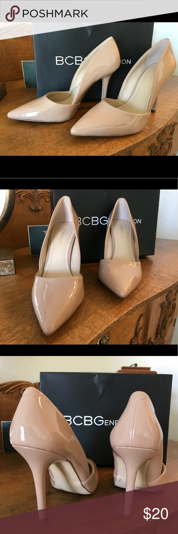 fbf17f1dd00 BCBGeneration Nude Pumps BCBGeneration Damia patent nude pump in excellent  condition. Never worn. BCBGeneration