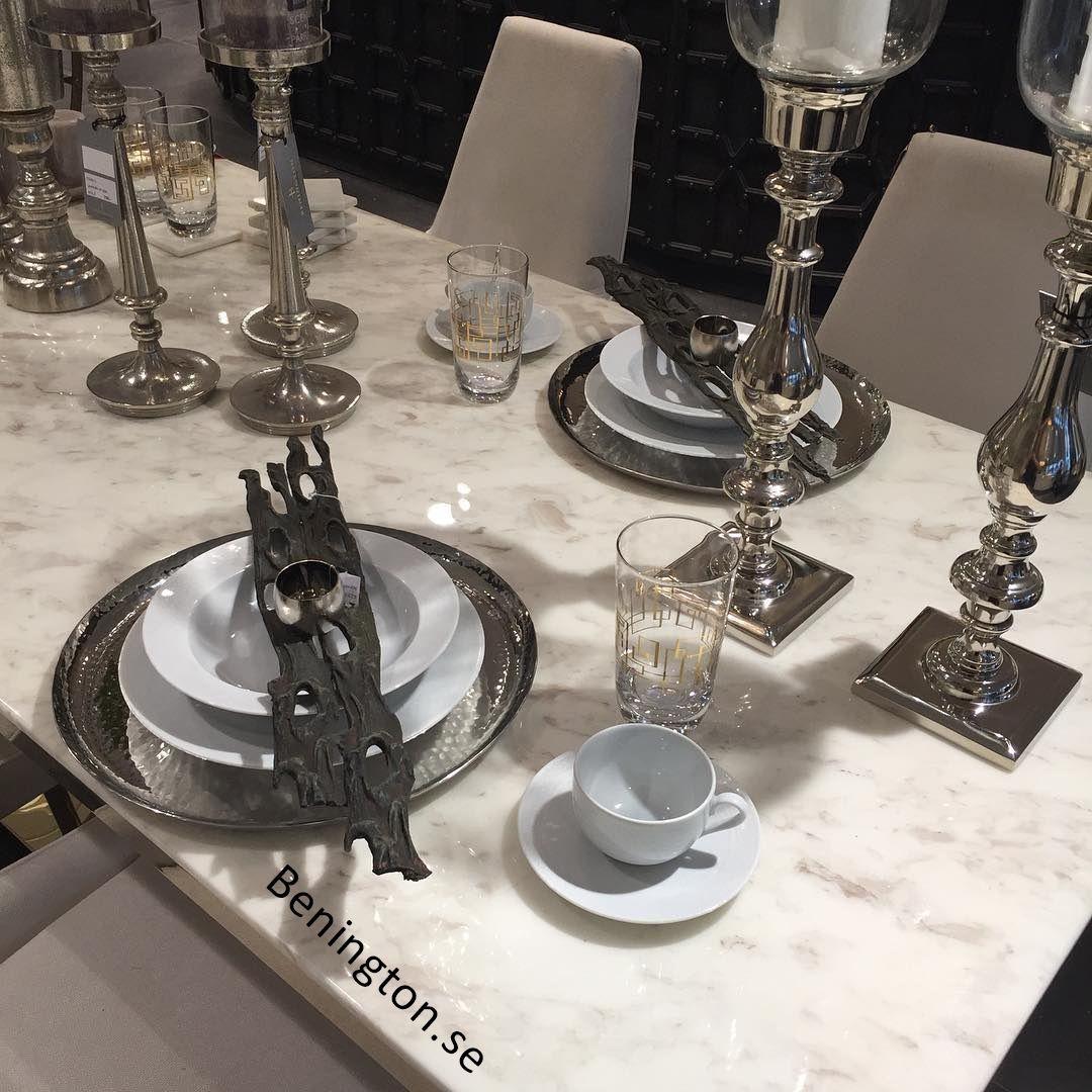 Duka vackert i silver!  #benington #home #design #homedesign #homedecor #inredning #trend #deco #decor #exklusiv #exclusive #diy #dekorering #homefashion #interior #interiör #interior4all #interior123 #instagood #style #detaljer #instahome #homestyling #room #duka #dukning #tableware #tablesetting #silver