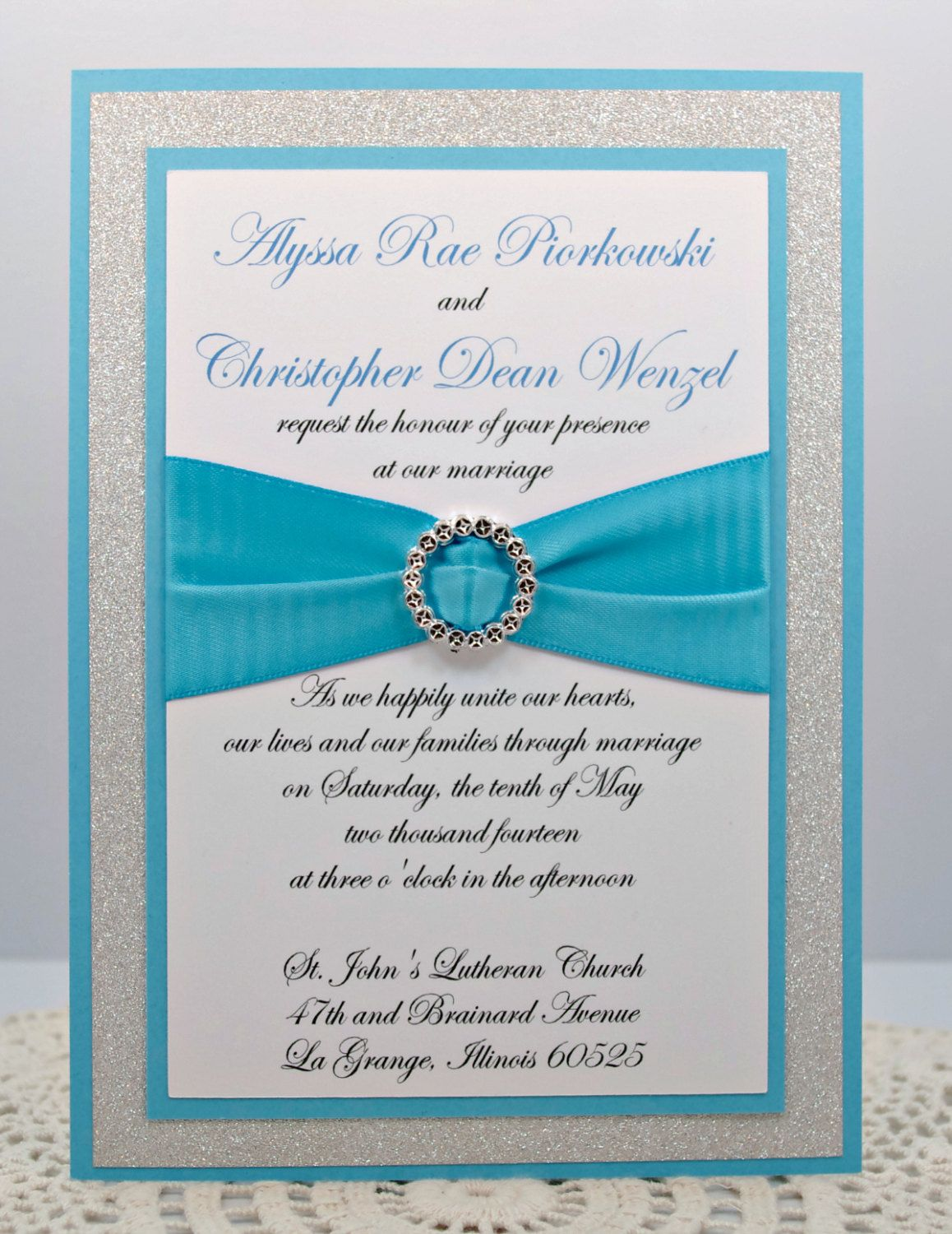 DIY - Print At Home - Stunning Teal & Silver Glitter Wedding ...