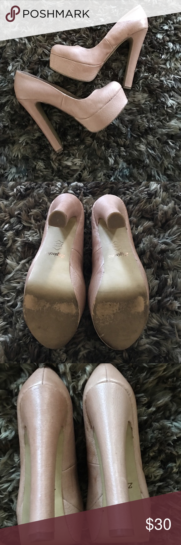 Tan pumps Worn twice tan/nude pumps Zigi Soho Shoes Platforms
