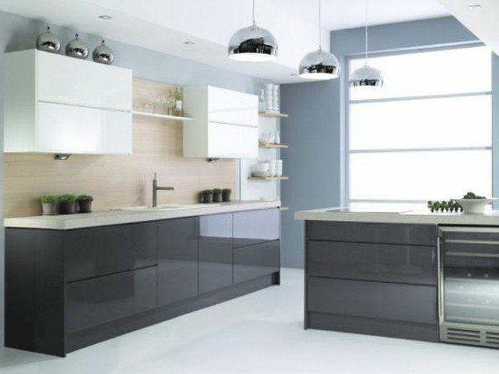 Cuisine Gris Anthracite Idées Pour Une Cuisine Chic Et - Meuble de cuisine gris pour idees de deco de cuisine