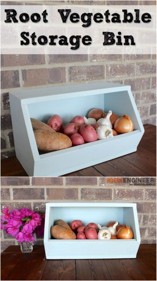 16 DIY Produce Storage Solutions for Fresh Fruit and Veggies #storagesolutions