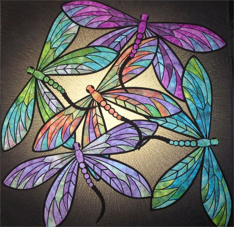 Dance of the Dragonflies quilt pattern by JoAnn Hoffman Quilts Today Pinterest Dragonflies ...