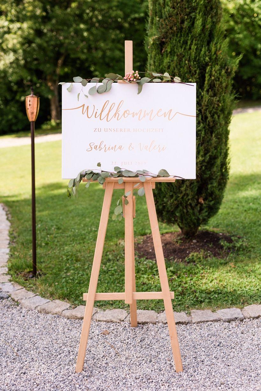 Willkommen Schild Hochzeit Freie Trauung