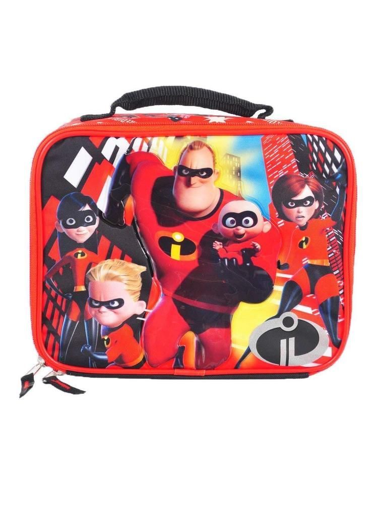7e242011ed4 Disney Incredibles 2 Lunch Bag School Lunchbox Insulated   DisneyIncredibles2  LunchBag